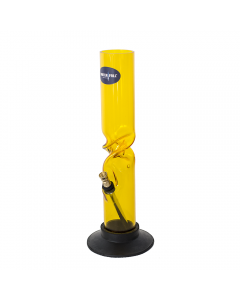 WATERFALL - ACRYLIC TWIST YELLOW BONG