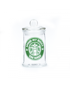 STASH JAR - SPEND MY BUCKS 150ML CLEAR GLASS JAR