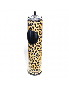TRASH CAN / ASHTRAY - LEOPARD PRINT 60CM
