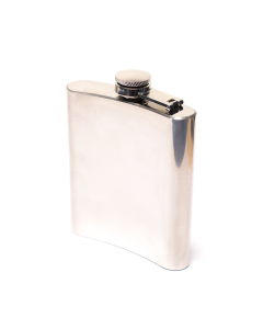 HIP FLASK - GLOSS SILVER 200mL FLASK