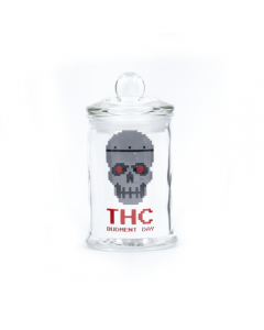 BAD ASS - STASH JAR - THC BUDMENT DAY SKULL - 150ML