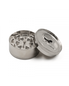 ALUMINIUM GRINDER - 3 PART SKULL & CROSS BONES