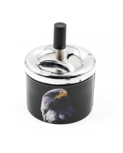 PUSH SPIN ASHTRAY - EAGLE