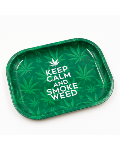 ROLLING TRAY - KEEP CALM AND SMOKE WEED - 18CM x 14CM