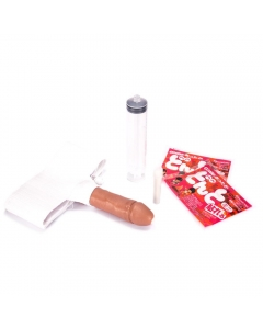 the Whizzard Prosthetic with Synthetic Urine Tan Img 2 | The Bong Shop
