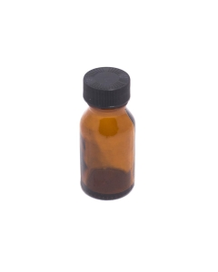 Bottle Small Brown Glass with Lid | The Bong Shop