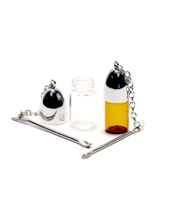 Snuff Vial with Silver Cap and Spoon  Img 1 | The Bong Shop