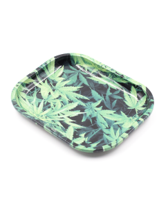Rolling Tray Weed Leaves 18cm X 14cm | The Bong Shop