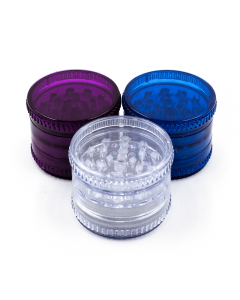 GRINDERS - ACRYLIC 60mm 5 PART COLOURED MAGNETIC CENTRE