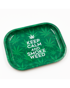 Rolling Tray Keep Calm and Smoke Weed 18cm X 14cm | The Bong Shop