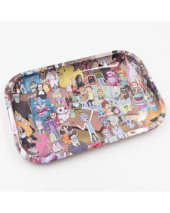Rolling Tray Rick Morty Every Parasite 28 8cm X 18 8cm | The Bong Shop