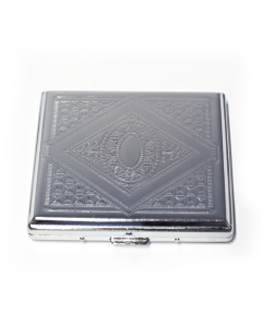 Cigarette Case Square Silver Assorted Designs Img 3 | The Bong Shop