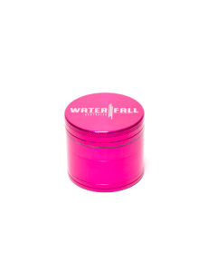Waterfall 4 Part 50mm Grinder Pink | The Bong Shop