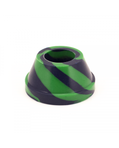 Waterfall Tall Silicone Base 32mm Green Blue Img 3   The Bong Shop